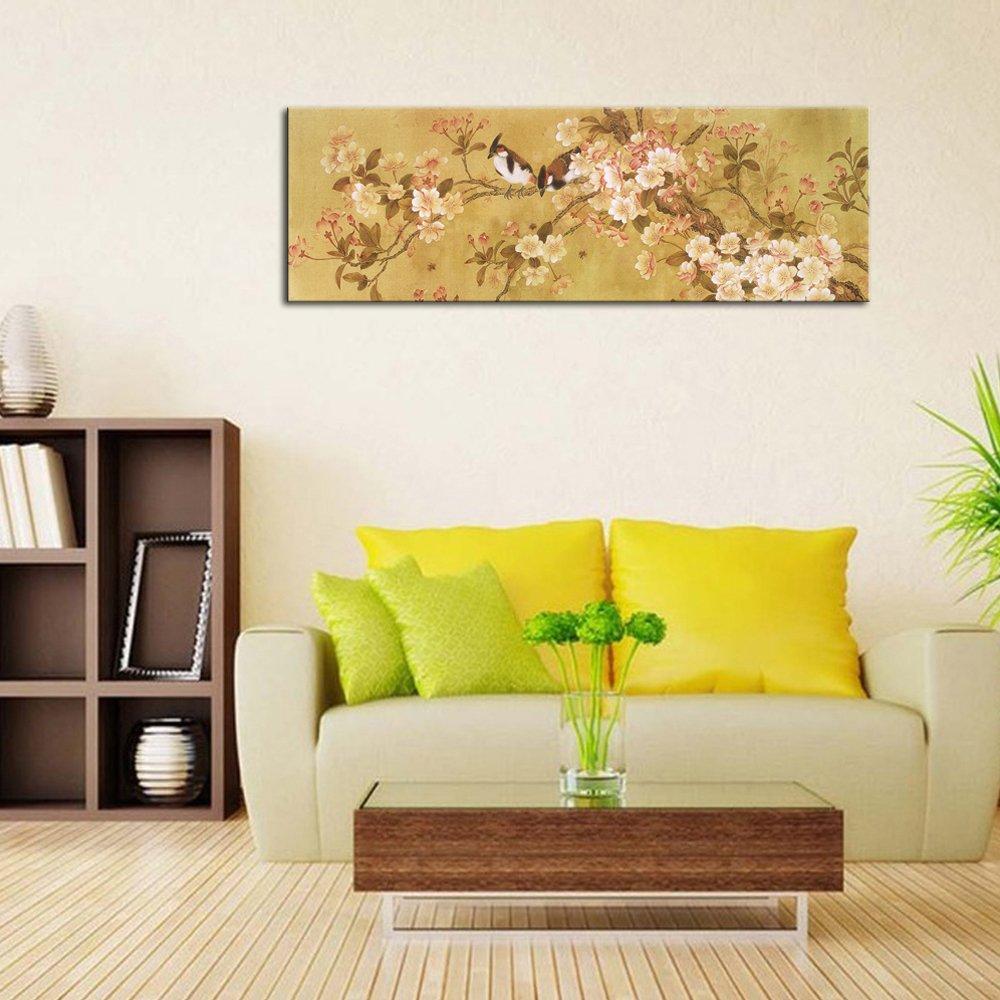 Amazon.com: Pyradecor Giclee Canvas Prints Wall art Birds on ...