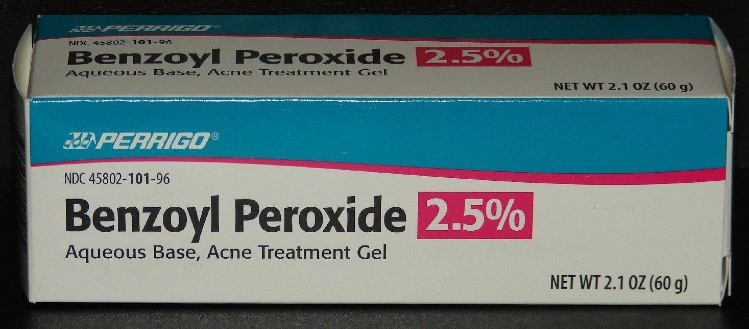 Amazon.com : Perrigo 2.5% Benzoyl Peroxide Acne Treatment Gel 60gm Tube :  Blemish Tools : Beauty