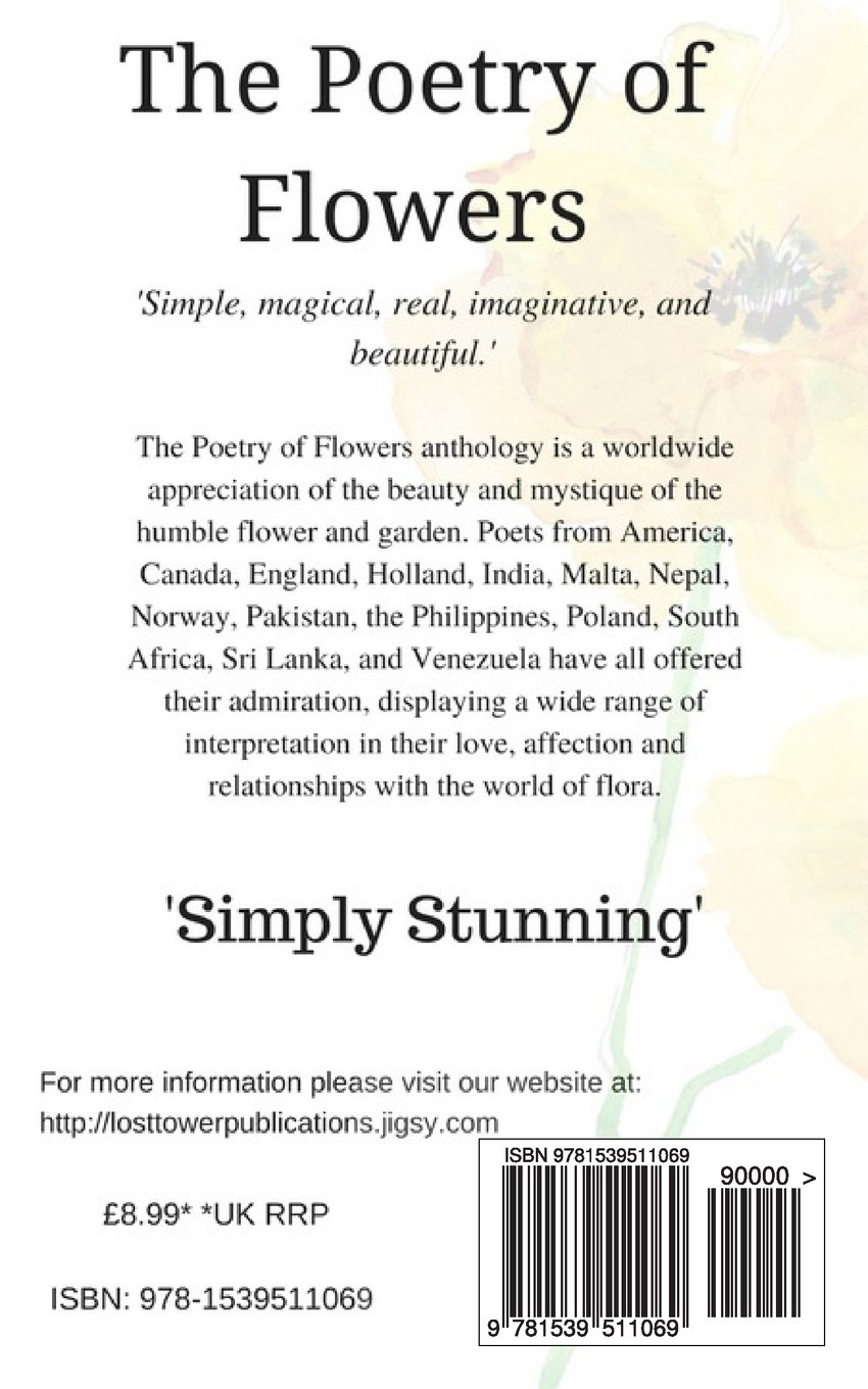 The Poetry Of Flowers Selected International Poets 9781539511069