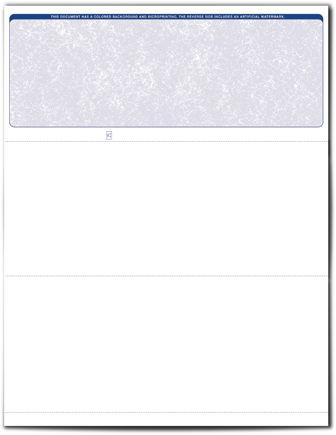VersaCheck ValueChex Blank Check Paper - Form #1000 Business Voucher Check on Top - Blue - Classic - 1000 Sheets/1000 Checks by VersaCheck Air