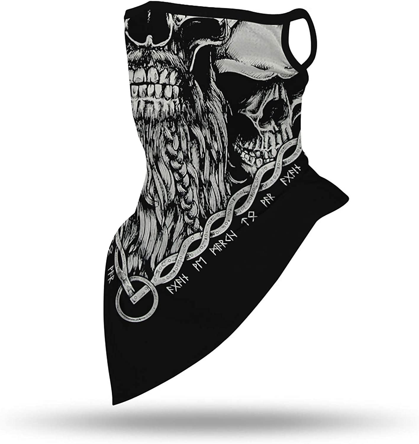 Face Bandana Mask Ear Loops Face Rave Balaclava Face Scarf Cover Men Women Neck Gaiters Motorcycle Mask for Sports