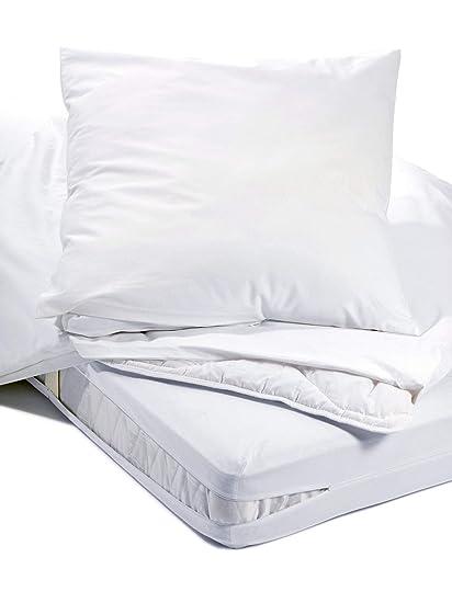 Allergiker Milben Bettwäsche Matratzenbezug Rundum 100 X 200 Cm Encasing Milbenkotdicht Höhe 20 Cm Milbenschutz Für Hausstauballergiker