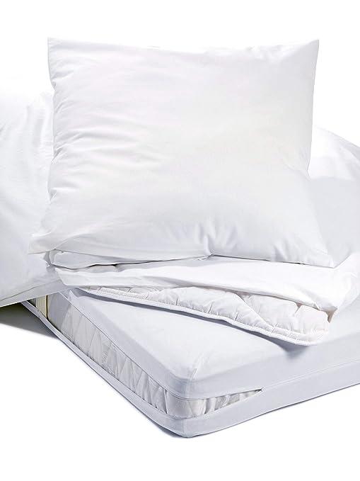 Allergiker Milben Bettwäsche Matratzenbezug Rundum 160 X 200 Cm Encasing Milbenkotdicht Höhe 20 Cm Milbenschutz Für Hausstauballergiker