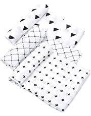 """Tosnail Muslin Baby Swaddle Blankets, Super Soft Touch - 47"""" x 47"""" - Set of 3"""