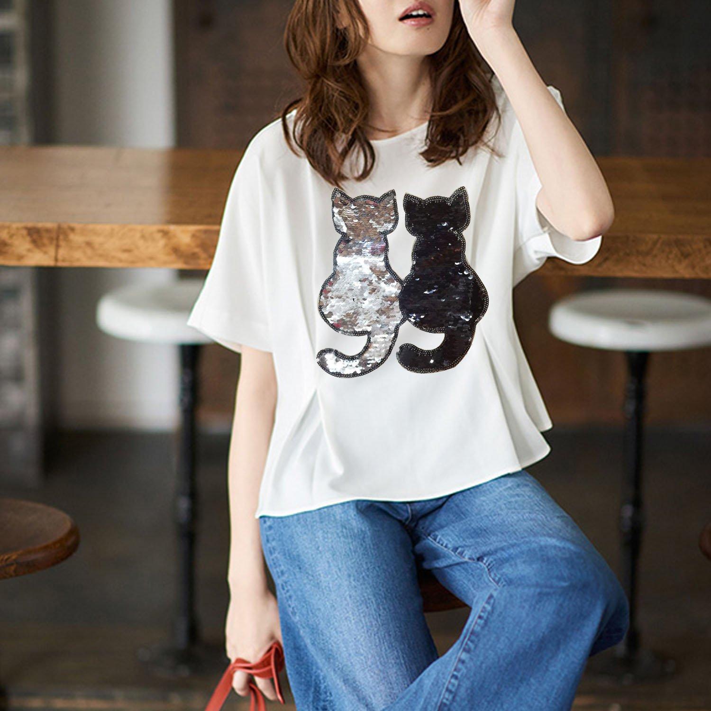 Parche ropa bordado, Cambio reversible color lentejuelas coser en bricolaje ropa parches accesorios ropa para camiseta Jeans Ropa bolsas zapatos ...