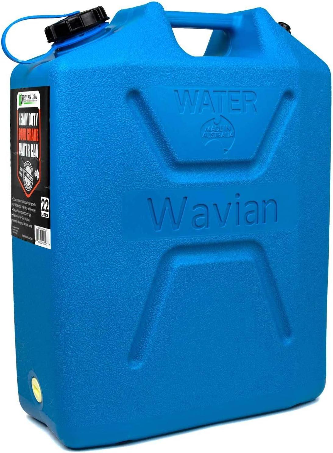 Wavian USA 3216 Blue 22 L Heavy Duty Food Grade Water Can