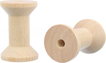 Natural Wood Color #N//A 3 Pack Empty Thread Spools Prevent Knotting Wooden Empty Wire Cords Spools Bobbins
