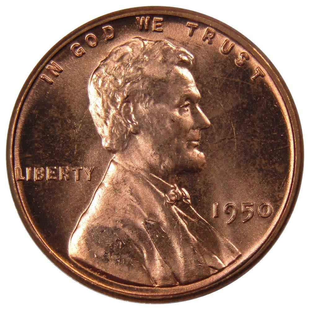 1941-1958 PDS Gem BU Lincoln Wheat Cent Set