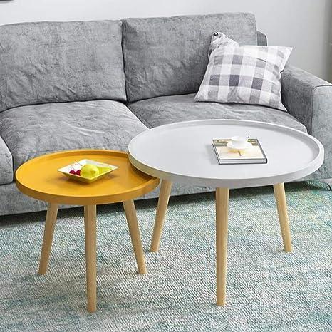 Amazon.com: Muebles de salón CJC Juego de 2 mesas, paneles ...