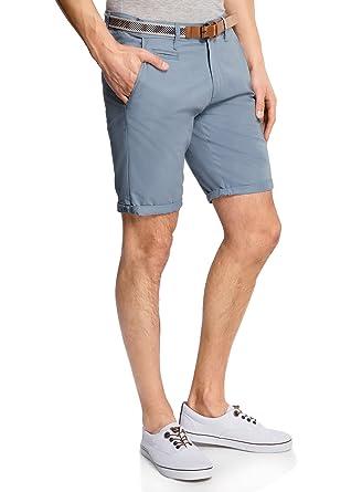 oodji Ultra Herren Baumwoll-Shorts mit Gürtel  Amazon.de  Bekleidung fa67aef4a2