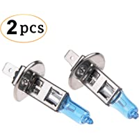 CK Formula (Set of 2) Halogen Headlight Bulbs 5000K Low Beam and High Beam H1 White cf-H1+White+55w+Hi