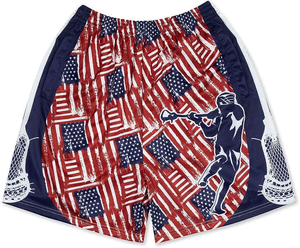 Various Designs /& Sizes Premium Lacrosse Athletic Shorts