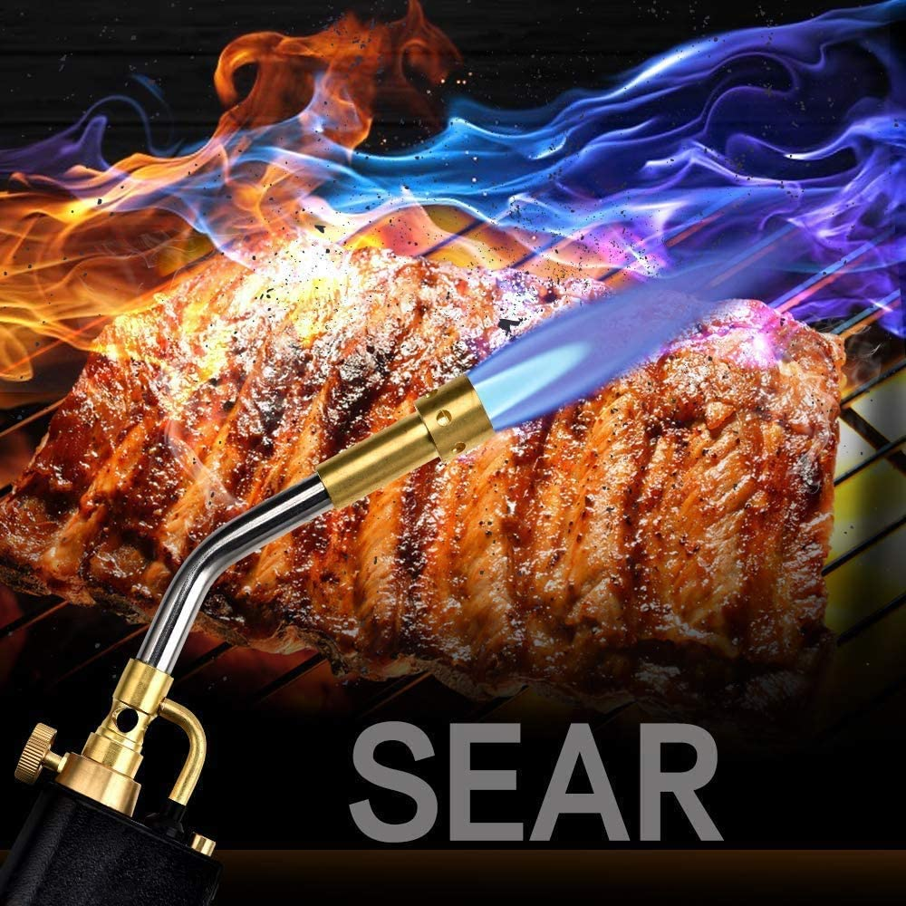 MAPP Propane Torch Brazing Soldering Searing Torch Multi Purpose Trigger Start Propane Torch Heat Welding Torch for Brazing and Barbecu(Gas cylinders not Included)
