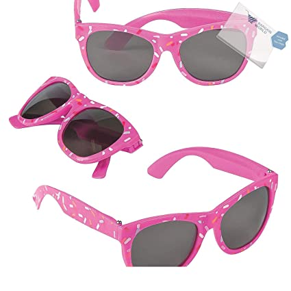 ee49ae6ed83 Amazon.com  Bargain World Donut Sprinkle Sunglasses (With Sticky ...