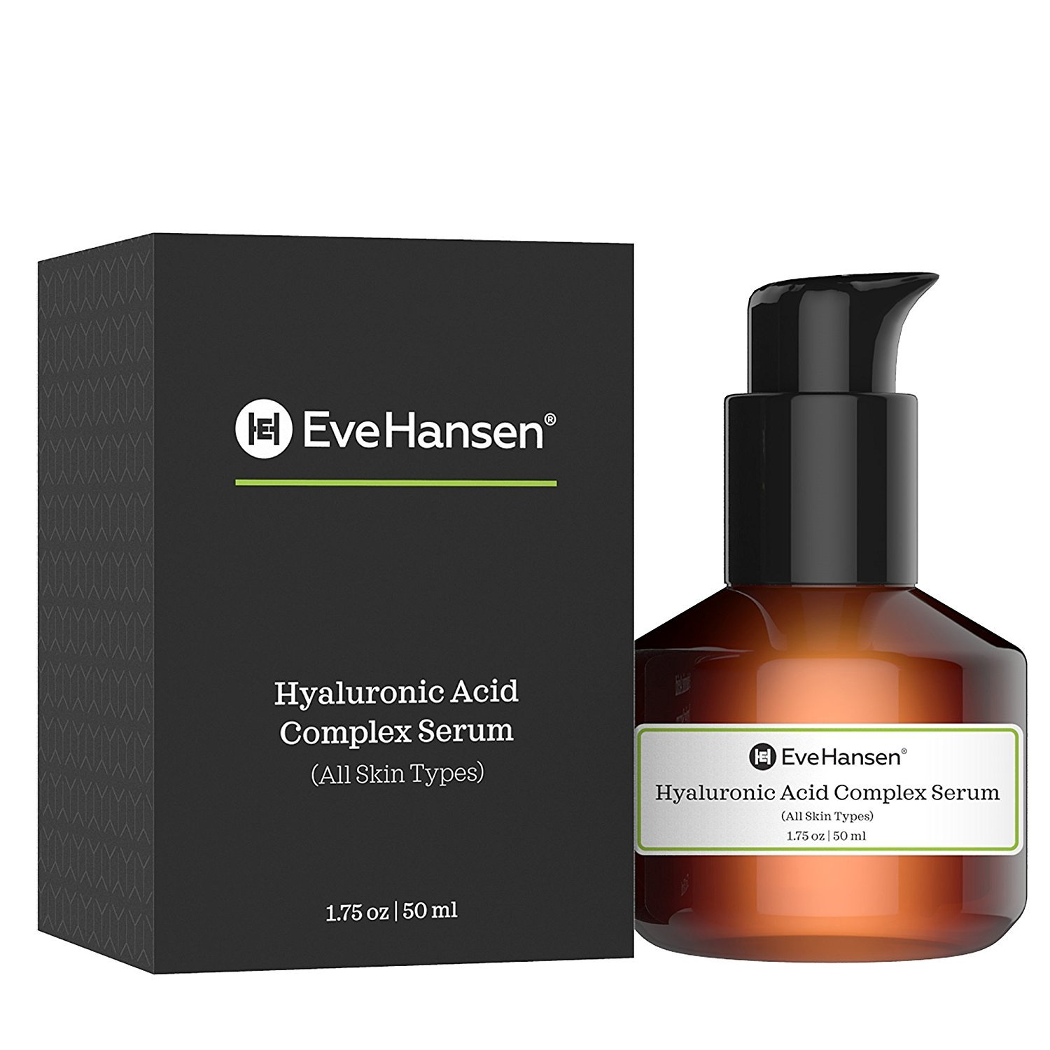 Hyaluronic Acid Serum with Vitamin E, A & C by Eve Hansen - Pure Anti Aging Serum that Plumps, Moisturizes and Tightens Skin.