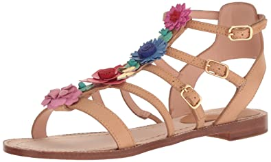 1a35615baa56 Kate Spade New York Women s Sadia Flat Sandal Natural Vacchetta 5 Medium US