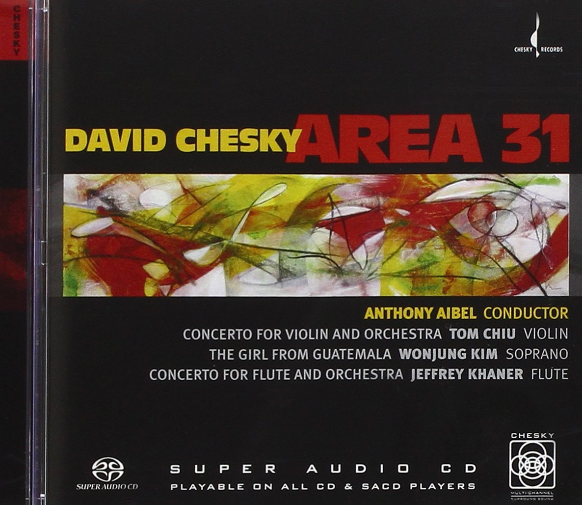 Area 31: Concerto for Violin and Orchestra; Concerto for Flute & Orchestra; The Girl From Guatemala
