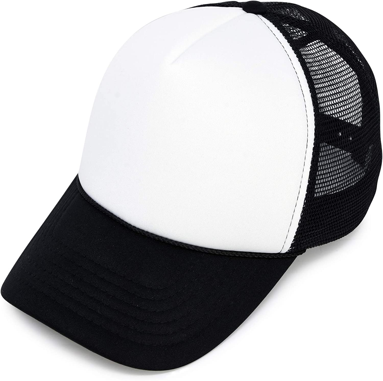 Dalix Two-Tone Adjustable Trucker Hats