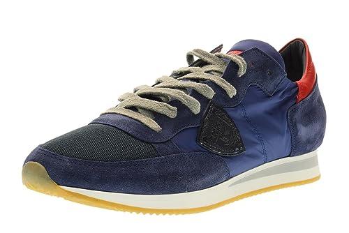 Philippe Model Scarpe Uomo Sneakers Basse TRLU WX30 Tropez L U World Taglia  45 Blu-Rosso  Amazon.it  Scarpe e borse 13793610d1f