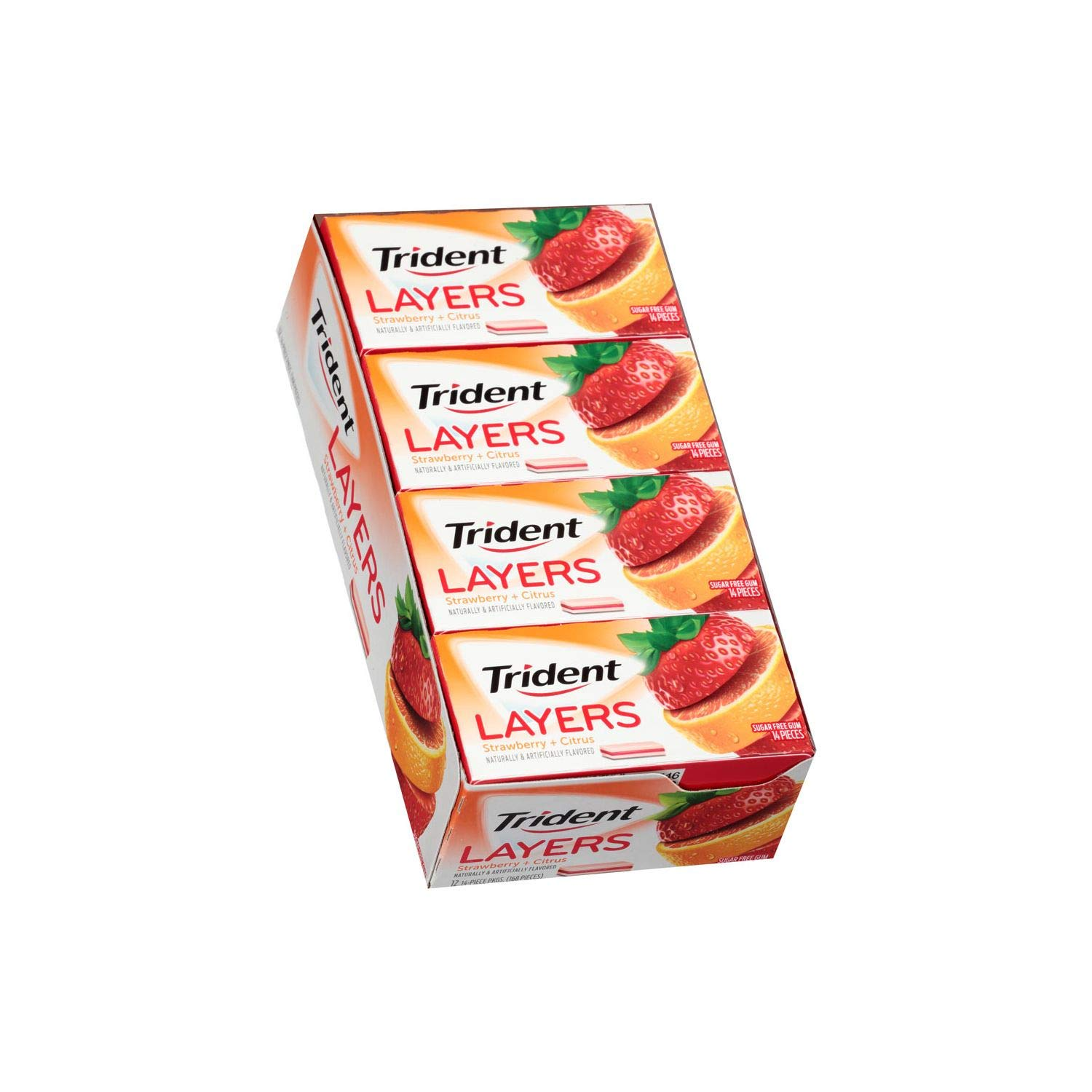 Trident Layers Strawberry and Tangy Citrus (14 ct, 10 packs.)