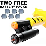 Bug and A Fly Salt 2.0 Gun Red Laser Sight Beam Accessory - Fits All Versions of Bug Insect Eradication Salt Shotgun and Airsoft BB Pump Shooter Rifles - Extra Batteries Included