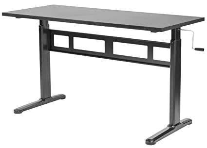 Amazon Com Vivo Black Manual Height Adjustable Table Sit Stand