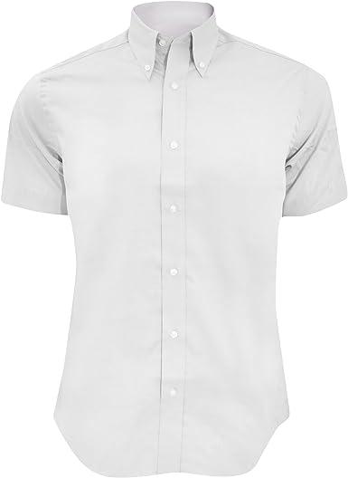 KUSTOM KIT - Camisa Ajustada de Manga Corta Modelo Oxford Premium - Trabajo/Boda/Fiesta