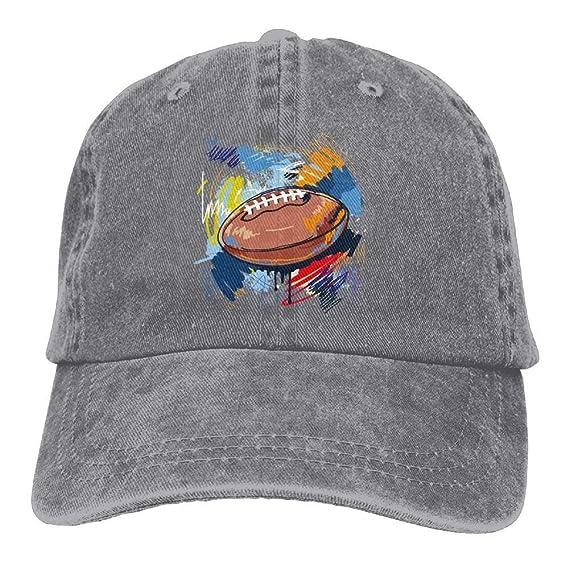 Aoliaoyudonggha Graffiti Football Unisex Adjustable Baseball Caps Denim  Hats Cowboy Sport Outdoor  Amazon.es  Ropa y accesorios 7335a43daf1