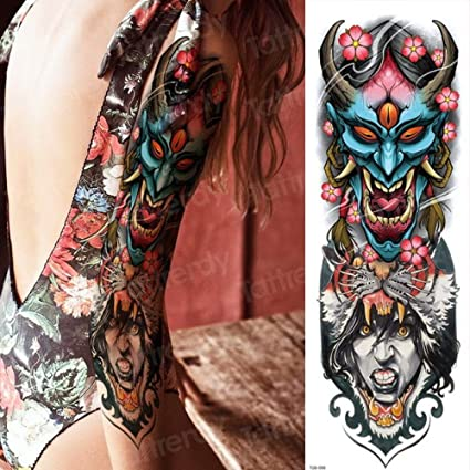 Tatuaje Pierna Femenina Tatuaje Impermeable Etiqueta Engomada Del ...