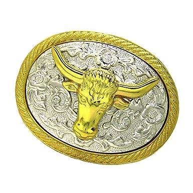 100% de satisfaction détails pour meilleur choix Sharplace Boucle Ceinture Tête Vache Western Animal Dessin ...