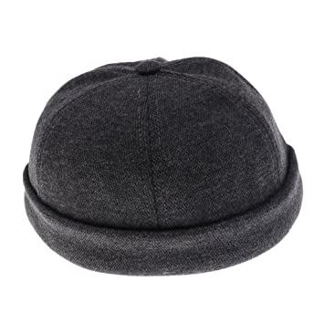 Prettyia Men Casual Adjust Docker Hat Sailor Cap Mechanic Biker Hat SkullCap  Beanie Brimless - Dark b00ab2bc8c8f