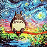 #8: DIY 5D Diamond Painting by Number Kits, Crystal Rhinestone Diamond Embroidery Paintings Pictures Arts Craft for Home Wall Decor, Full Drill Canvas,Cat Oil Painting Starry Sky (LX-182LMAO-11.8x11.8in)