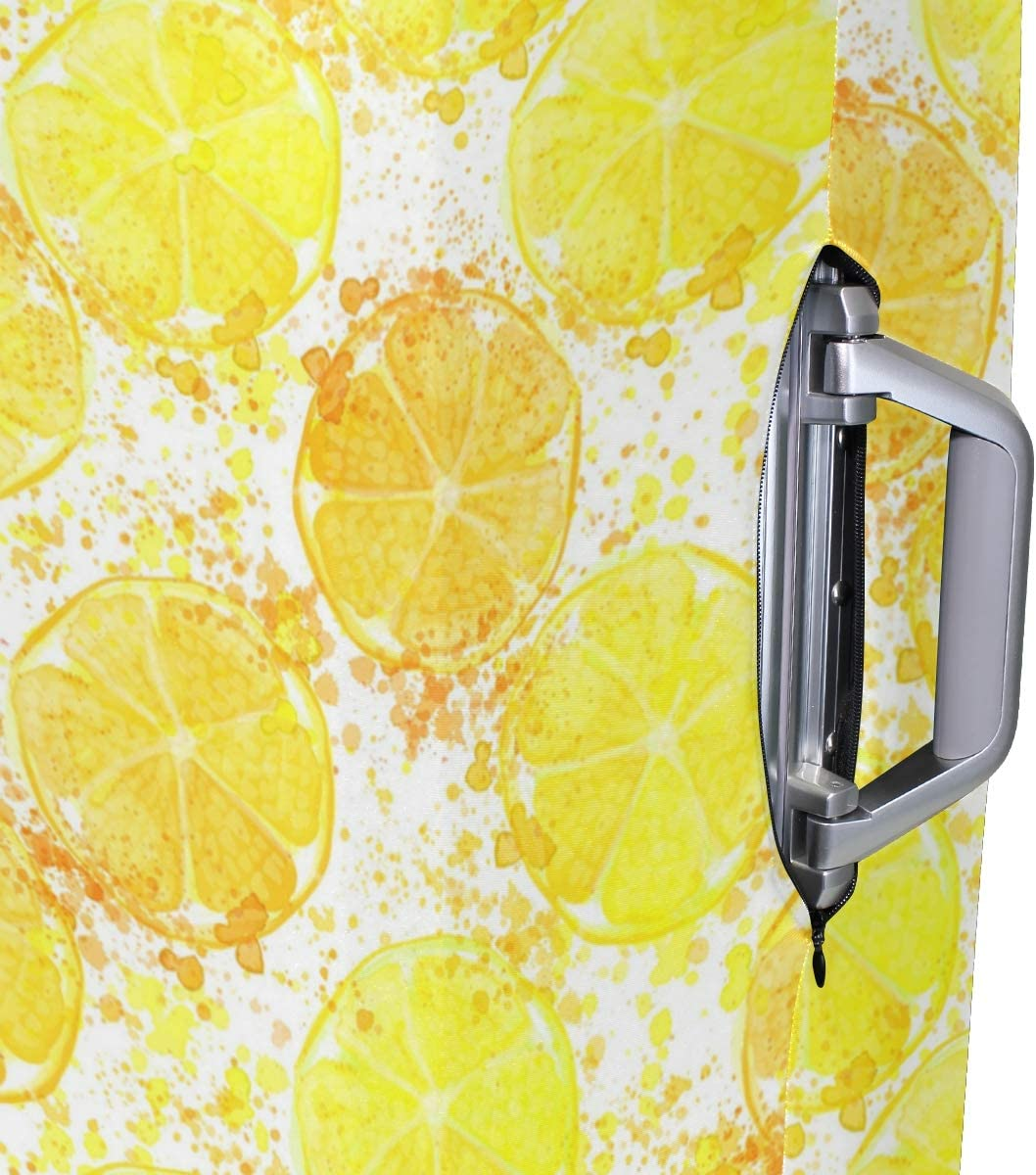 Hand Drawn Watercolor Of Lemon Travel Luggage Protector Case Suitcase Protector For Man/&Woman Fits 18-32 Inch Luggage