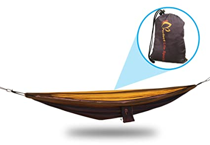 ultralight  pact hammock for camping  extra strong parachute fabric carabiners  u0026 attachment rope included amazon     ultralight  pact hammock for camping  extra strong      rh   amazon