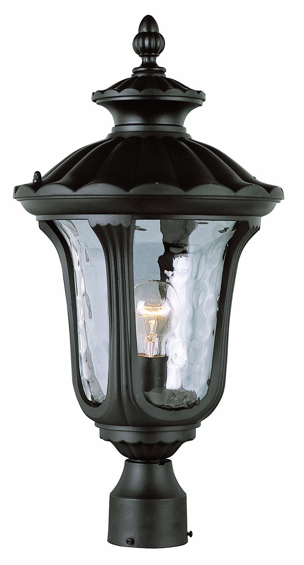 Trans Globe Lighting 5913 RT Outdoor Knolls 21'' Postmount Lantern, Rust