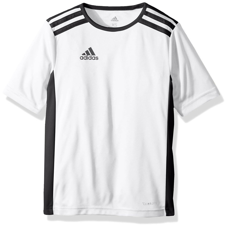 Adidas エントラーダジャージー 男子用 サッカー 18。 B071KHF5T4 Large|ホワイト/ブラック ホワイト/ブラック Large