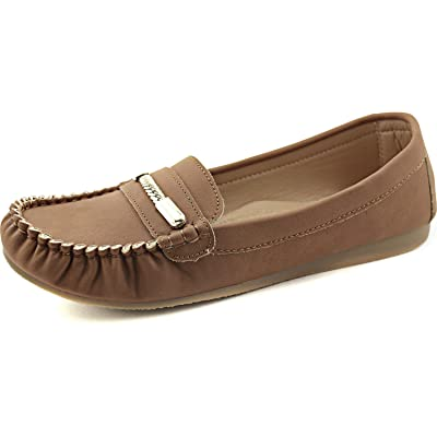 Nature Breeze Women's Fashion Designer Inspiring Crinkled Stitched Comfortable Slip on Loafers Shoes | Loafers & Slip-Ons