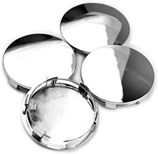 Rhinotuning 83mm/76mm Chrome Silver ABS Car Wheel Center Hub Caps Replace #88963143#9595891#9595759#9596403#19333200 Set of 4
