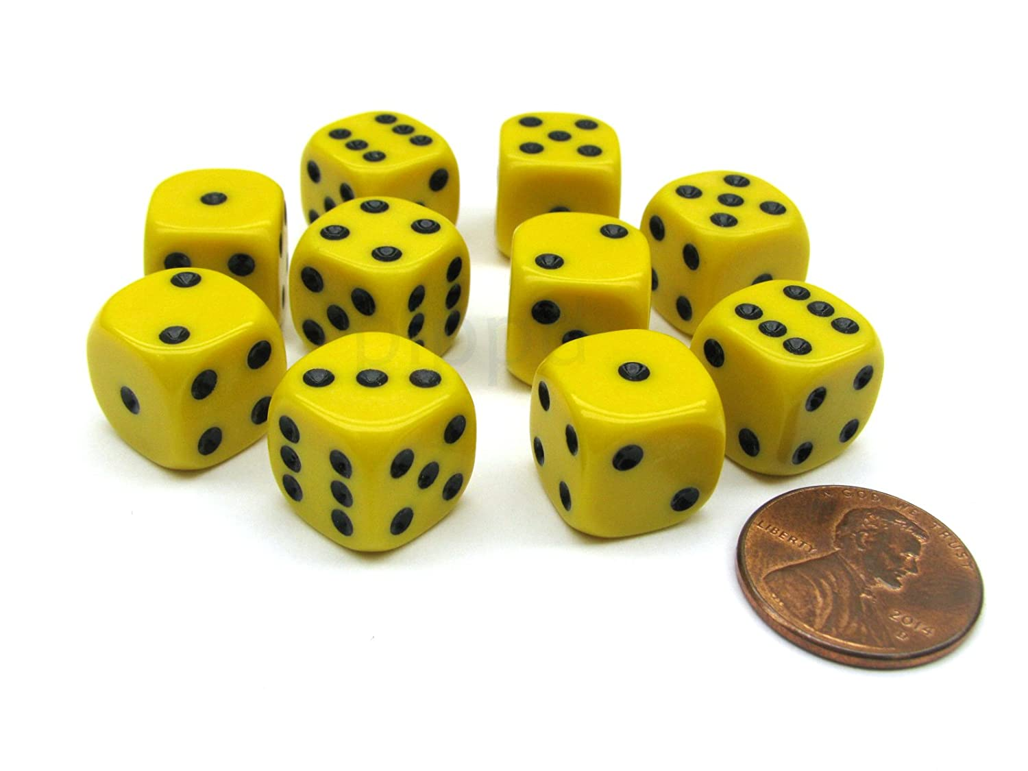 絶対一番安い Pack of 10 12mm - Round Edge 10 Opaque Small Dice B01HFJHEES - Yellow with Black Pips B01HFJHEES, GINZA LoveLove(銀座ラブラブ):87409652 --- arianechie.dominiotemporario.com