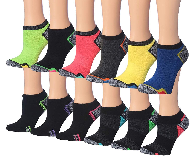 Tipi Toe Women's 12-Pairs Low Cut/No Show Athletic Sport Socks (SP35-12)