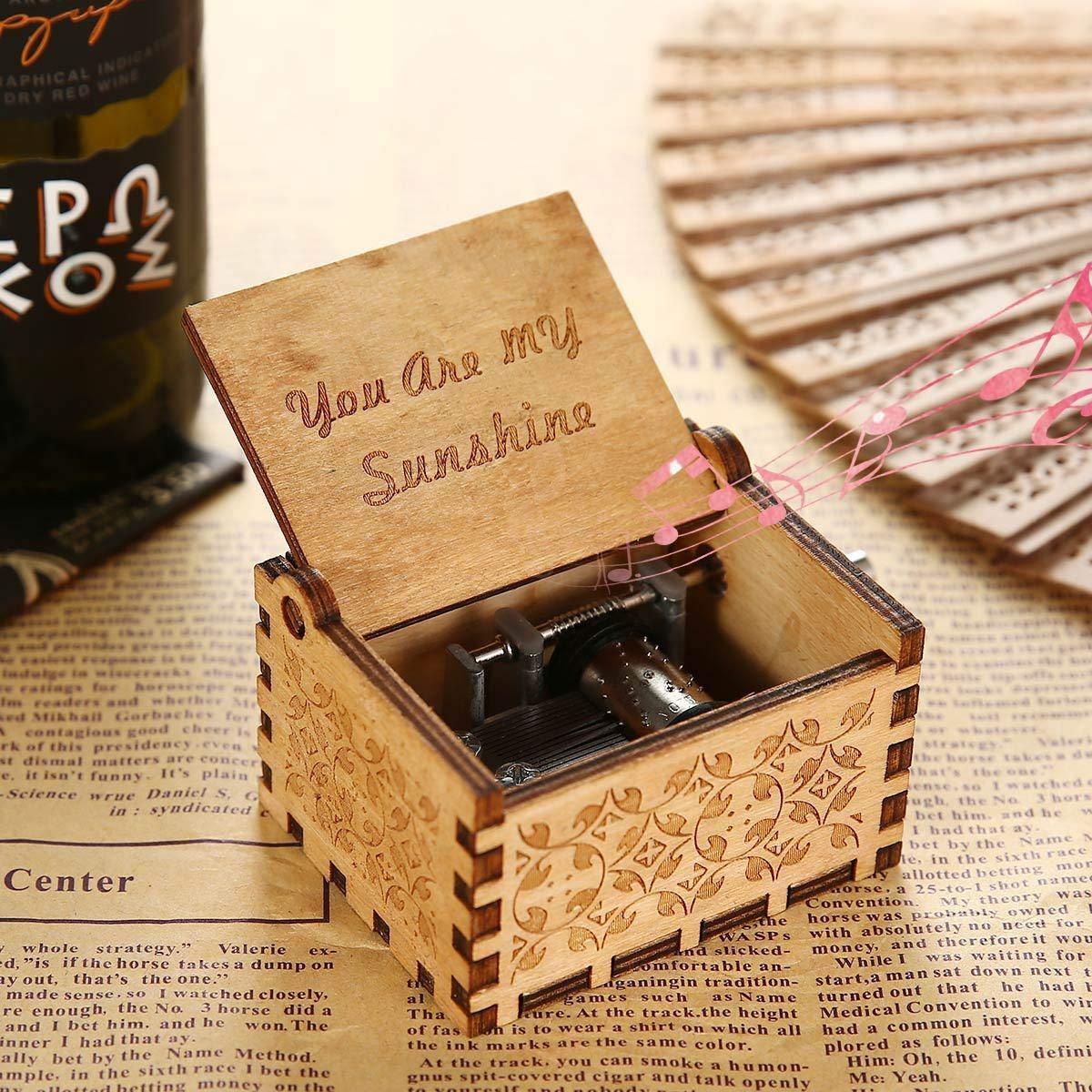 OMZGXGOD Pure Hand-Classical Sei Il Mio Sole Music Box Hand-Wooden Music Box Artigianato in Legno creativi I Migliori Regali
