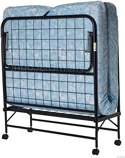 Folding Bed Camping Rollaway Cot w// Storage Bag /& Foam Mattress Portable Sleeper
