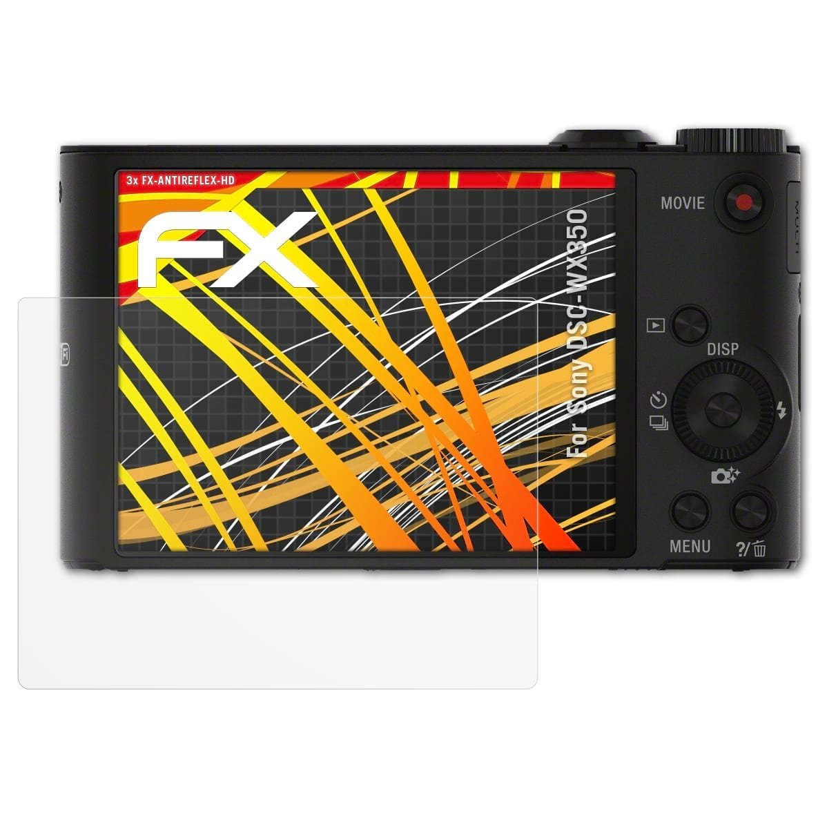 Rivestimento antiriflesso HD FX Protettore Schermo atFoliX Pellicola Proteggi compatibile con Sony DSC-WX350 Protezione Pellicola dello Schermo 3X