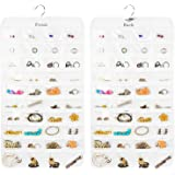 Earring Organizer, Dual-Sided 80-Pocket Hanging Jewelry Organizer Storage Display Necklace Earring Ring Pouch Pocket…