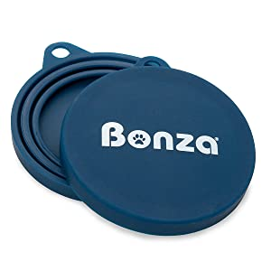 Bonza Pet Food Can Covers, Set of 2 Universal Silicone Can Covers for Pet Food Cans, Food Safe BPA Free, Dishwasher Safe. One Dog Food Can Lid Fits All Standard Can Sizes