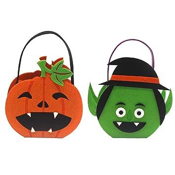 Amazon.com: Bolsas de mano para Halloween, caramelos, morado ...