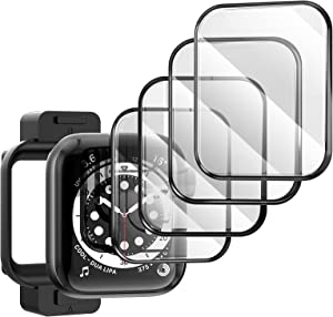 TAURI [4 Pack Compatible with Apple Watch Series 3/2/1 38mm Screen Protector, 3D Curved Edge Scratch-Resistant Bubble Free HD Full Coverage, Waterproof Flexible Protector Film for iWatch 38mm
