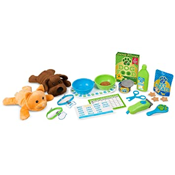 Melissa Doug Feeding Grooming Pet Care Play Set 24 Pieces Great Gift For Girls And Boys Best For 3 4 And 5 Year Olds