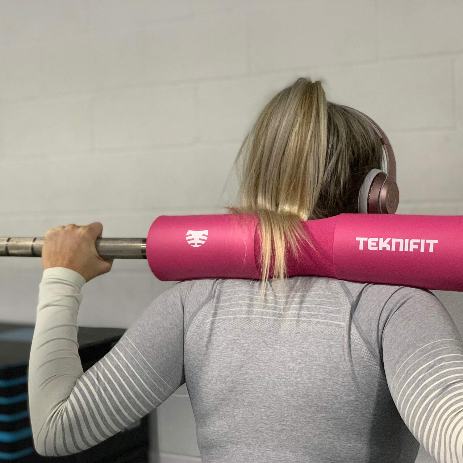 Enjoy Weightlifting Teknifit Barbell Squat Pad Fits Olympic Bars Perfectly Lunges Hip Thrust Exercises Comfortable /& Protective High Density Foam Pad for Neck and Shoulders