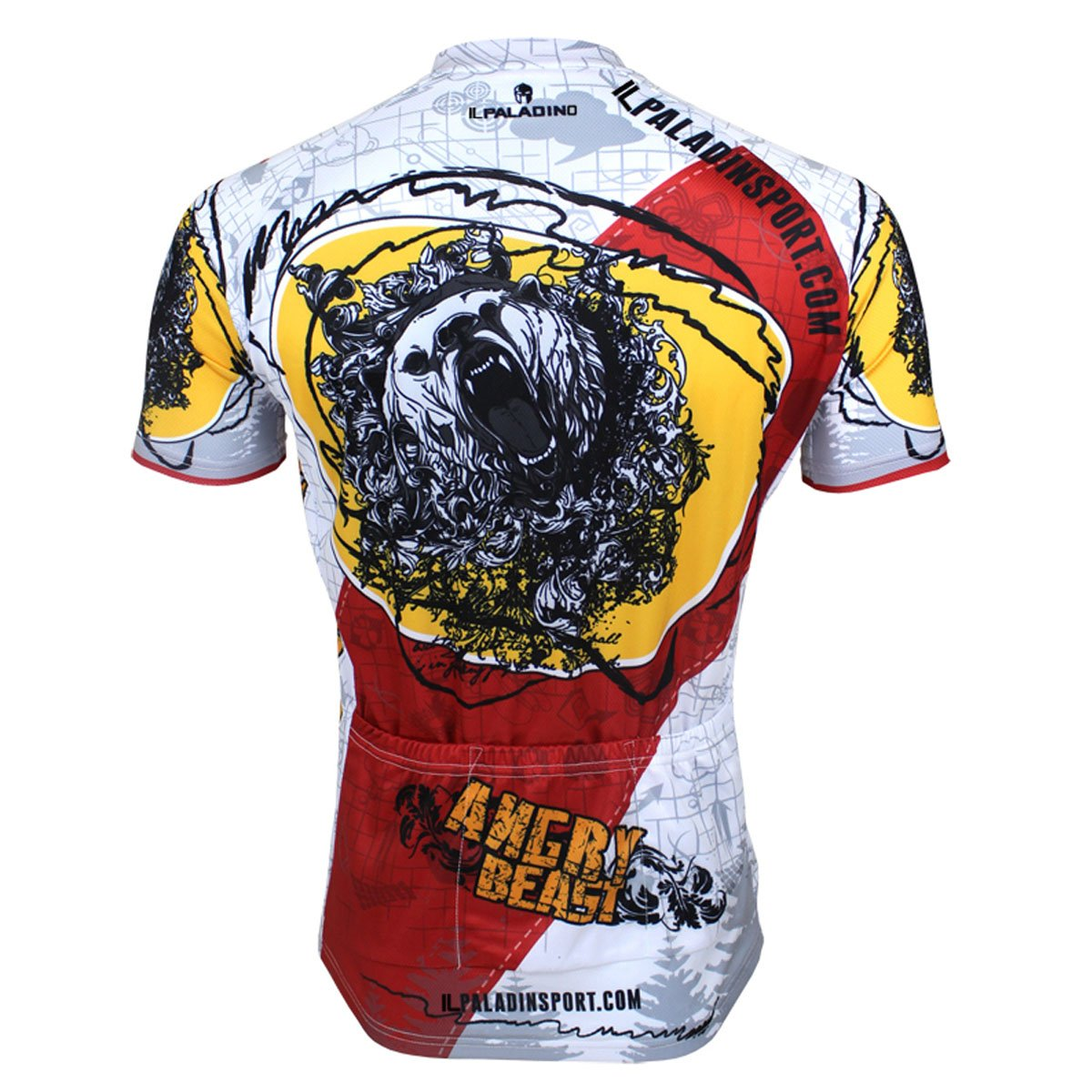 d7d858513 Amazon.com  ILPALADINO Men s Cycling Jersey Short Sleeve Biking Shirts  Animals Pattern  Clothing